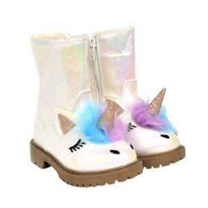 NWT Toddler Girls Unicorn Winter Iridescent Boots